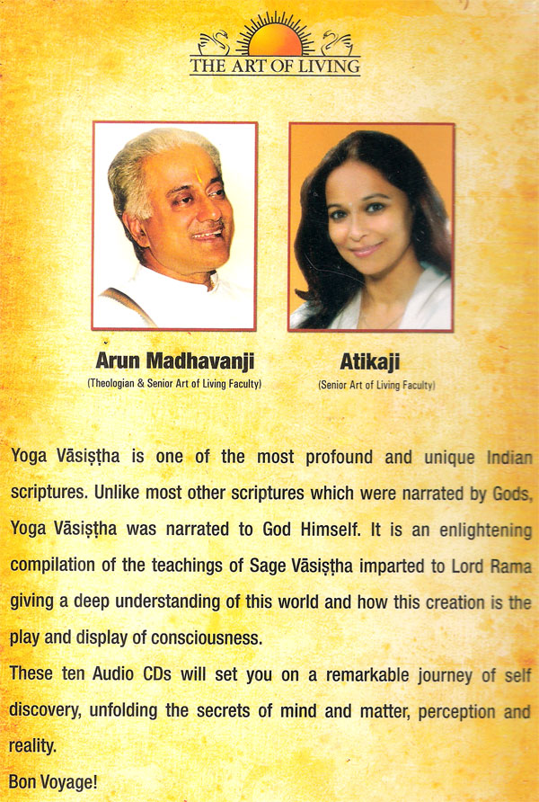 Yoga Vasistha The Art Of Living Special 10 Audio Cd Pack Kannada Store Spiritual Buy Dvd Vcd Blu Ray Audio Cd Mp3 Cd Books Free Shipping