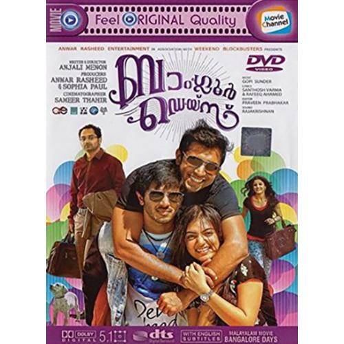 Bangalore Days - 2014 DD 5.1 DVD