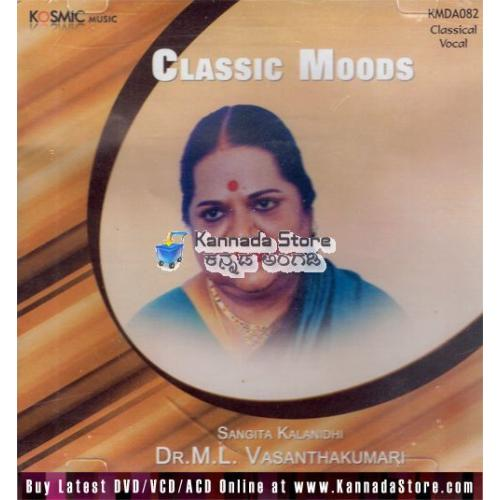 Classic Moods (Classical Vocal) - Dr. ML Vasanthakumari Audio CD