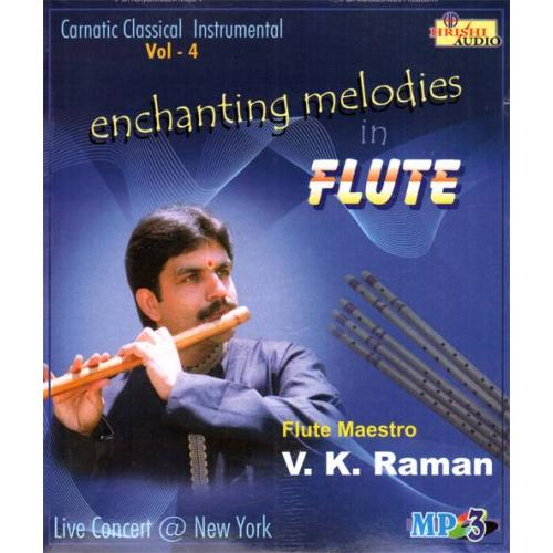 Enchanting Melodies In Flute (Instrumental) - VK Raman Audio CD